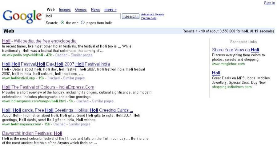 Holi with Google