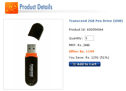 Transcend 2GB Pen Drive