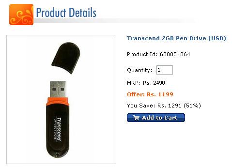 Transcend 2GB Pen Drive